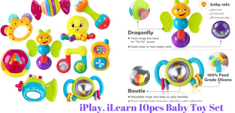 iPlay, iLearn 10pcs Baby Toy Set