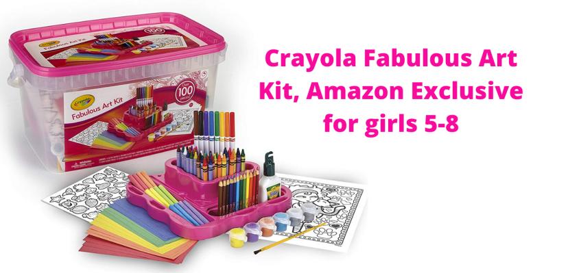 Crayola Fabulous Art Kit, Amazon Exclusive for girls 5-8