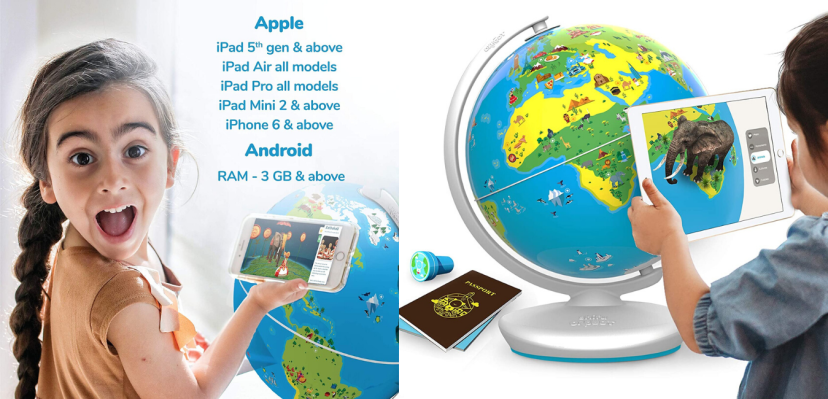 Orboot Augmented Reality Interactive Globe