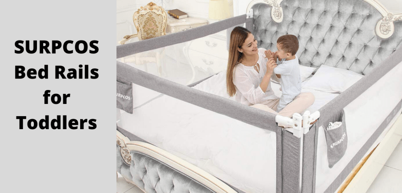 SURPCOS Bed Rails for Toddlers