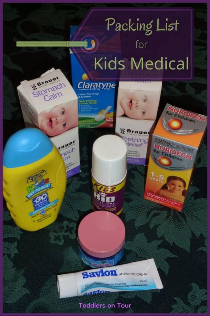 Travel Medical Kit Packing List