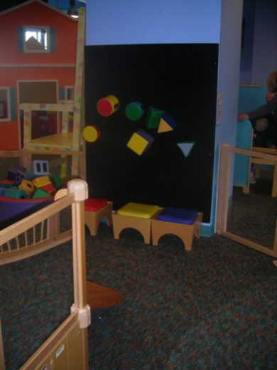 Children's Museum in Oak Lawn - velcro wall - Toddling Around Chicagoland