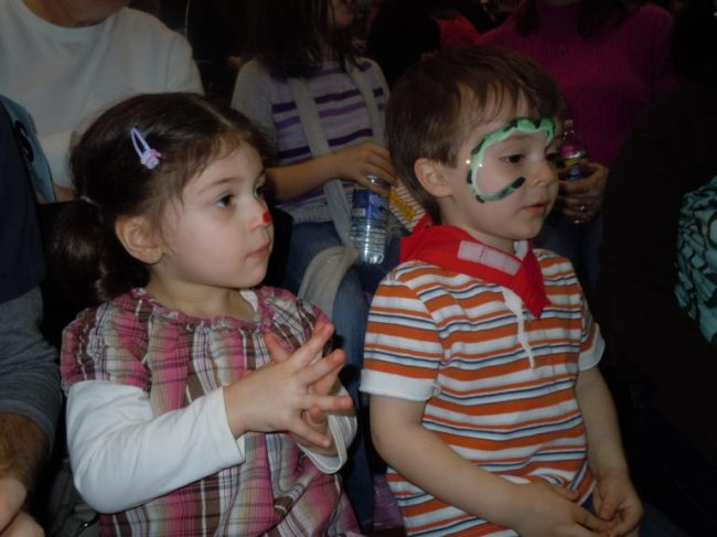Triton Troupers Circus - Allegra & Cooper with face paint