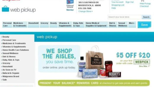 Walgreens Web Pickup - coupon screenshot - Toddling Around Chicagoland (1)
