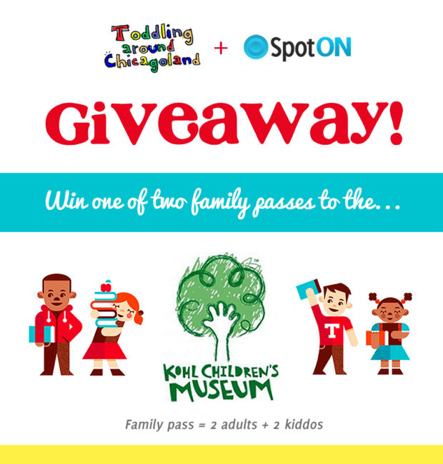 SpotOn.it - Kohl Children's Museum giveaway - Toddling Around Chicagoland