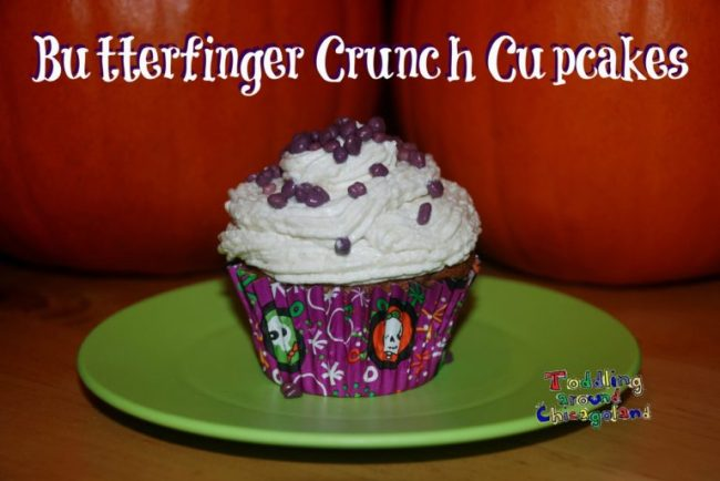 Spooky Halloween Fun - Butterfinger Crunch Cupcakes - Toddling Around Chicagoland #cbias #TrickURTreat #shop
