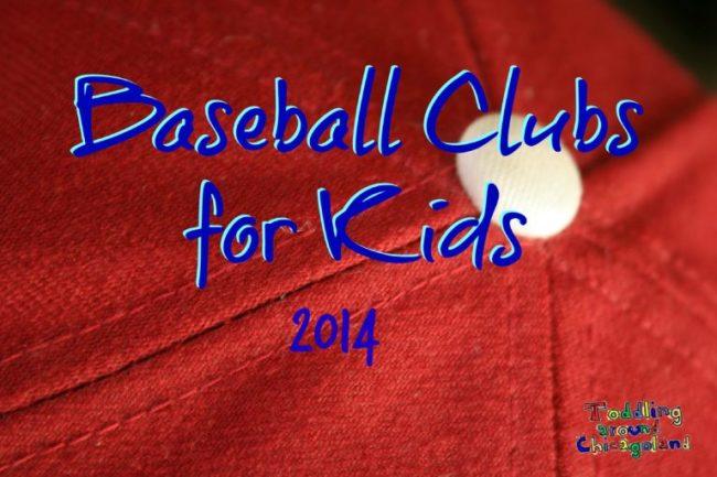 Baseball Clubs for Kids 2014 - Toddling Around Chicagoland #Chicago #baseball