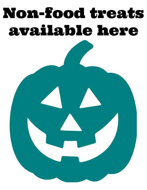 photo regarding Teal Pumpkin Printable named Teal Pumpkin Venture with Totally free Printable Pumpkin Indicator