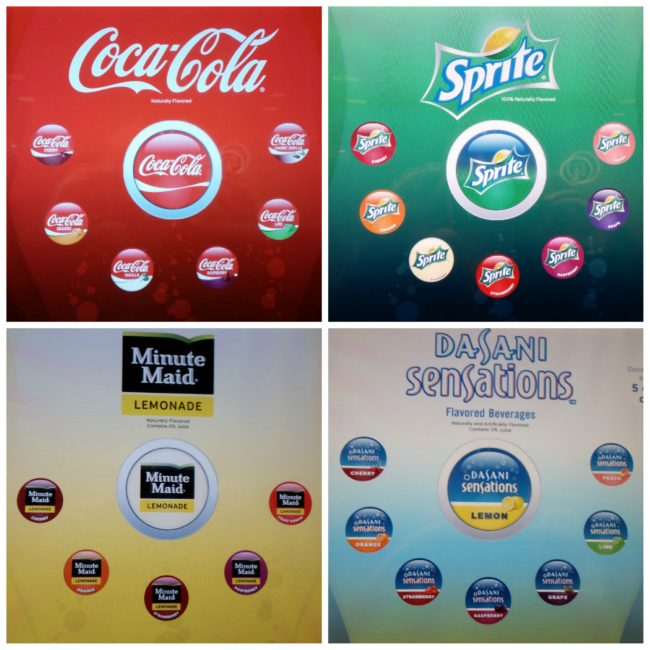 Just some of the Coca-Cola Freestyle options #AMCandCocaColaFreestyle #ad