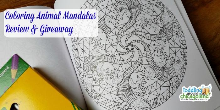 Coloring Animal Mandalas - Review & Giveaway