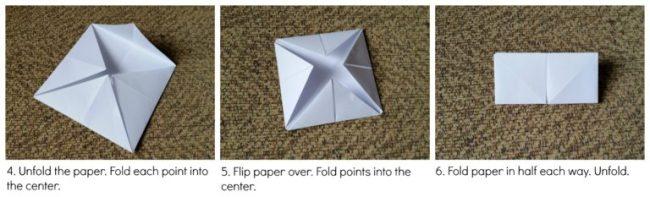 Paper fortune teller - steps 4-6