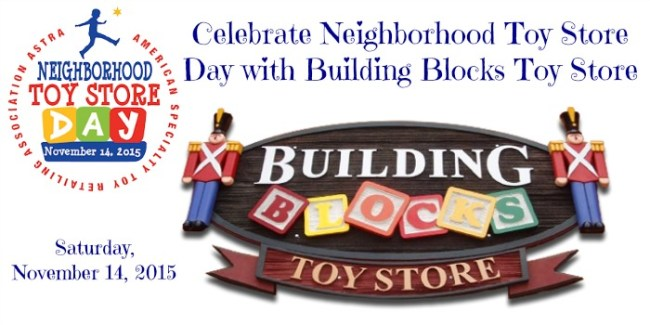 Celebrate Neighborhood Toy Store Day with Building Blocks Toy Store