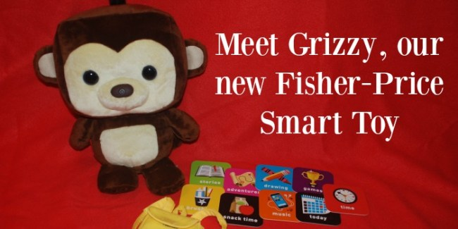 Meet Grizzy, our new Fisher-Price Smart Toy [ad] #gift #kids