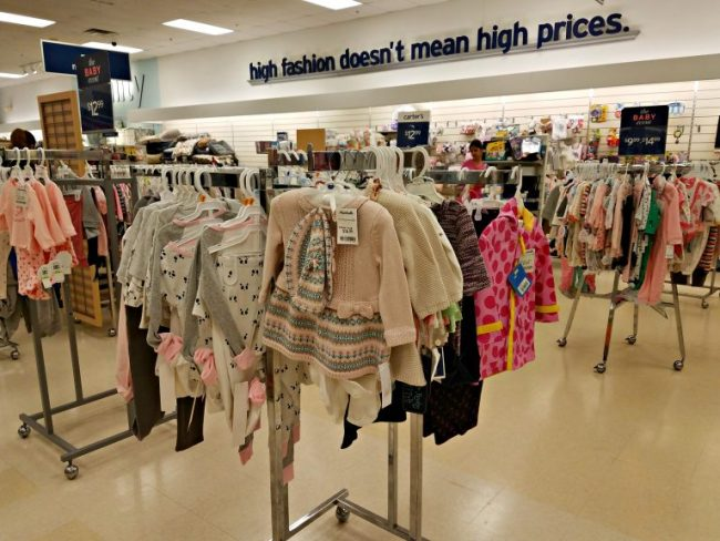 Baby clothing department at Marshall's