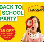 Legoland Discovery Center is hosting a Back-to-School Party on Labor Day 2017.