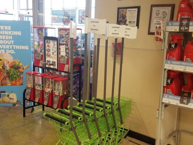 mini carts for kids at Schnucks