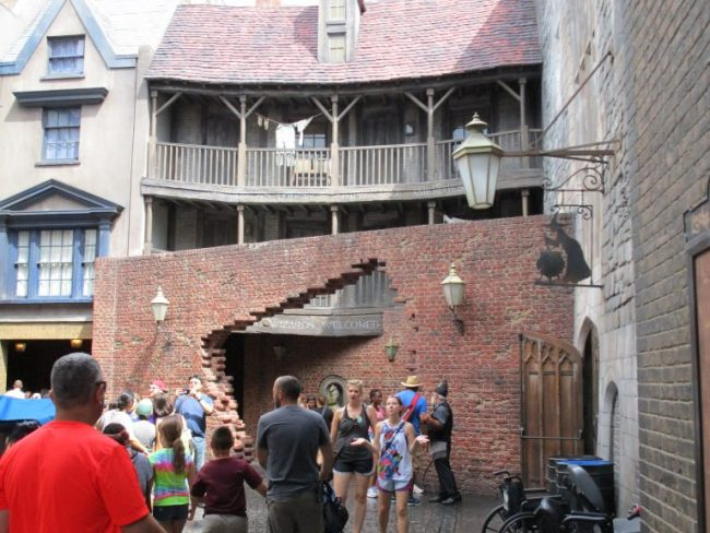 exit of Diagon Alley at the Wizarding World of Harry Potter in Universal Studios Orlando