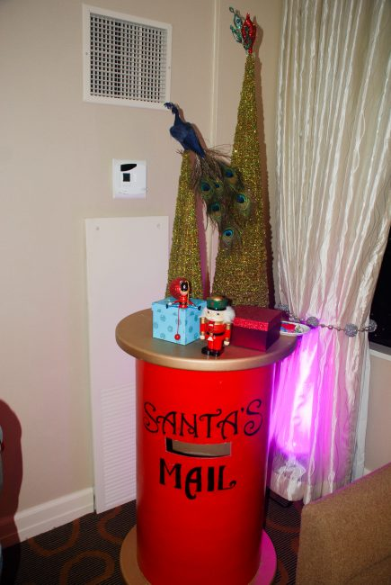 Santa's mailbox at the Santa Suite at Swissotel Chicago