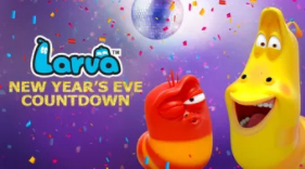 Larva NYE Countdown on Netflix #StreamTeam