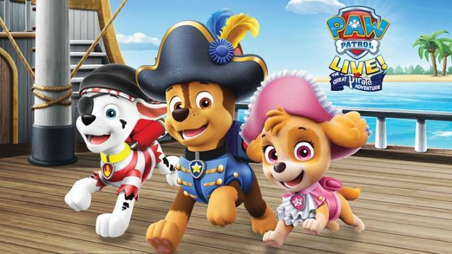 Paw Patrol Live - pets on ship deck
