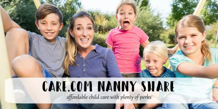 Care.com Nanny Share: affordable child care with plenty of perks