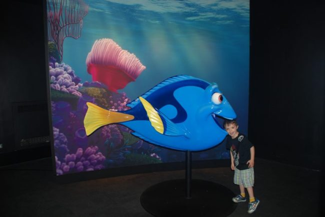 Child posing with Nemo
