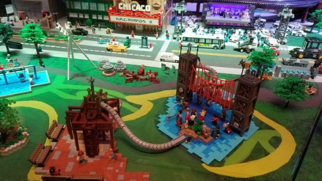 Chicago's Maggie Daley Park with LEGO bricks