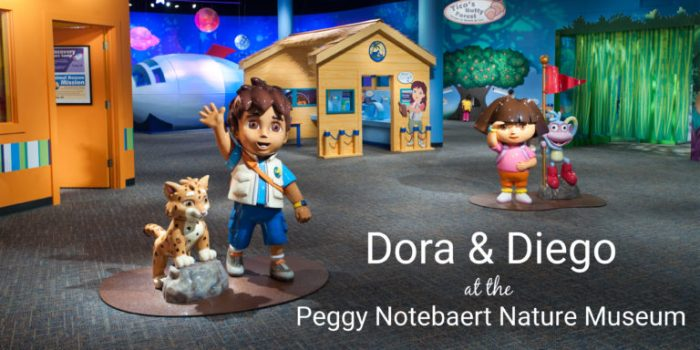 Dora and Diego at the Peggy Notebaert Nature Museum
