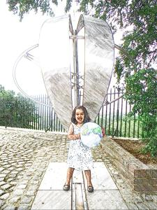 T astride the Prime Meridian Line, Greenwich - Moving to New York