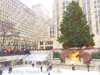 Rockefeller Center ice rink -New York ice skating