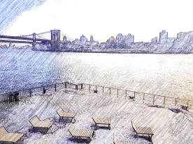melting snow - new york