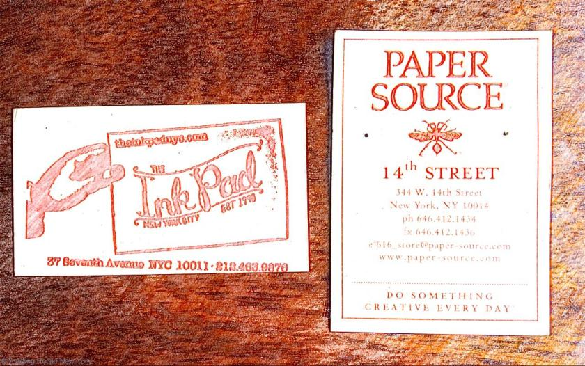 The Paper Source and The Ink Pad - my two favourite stationers - curing homesickness