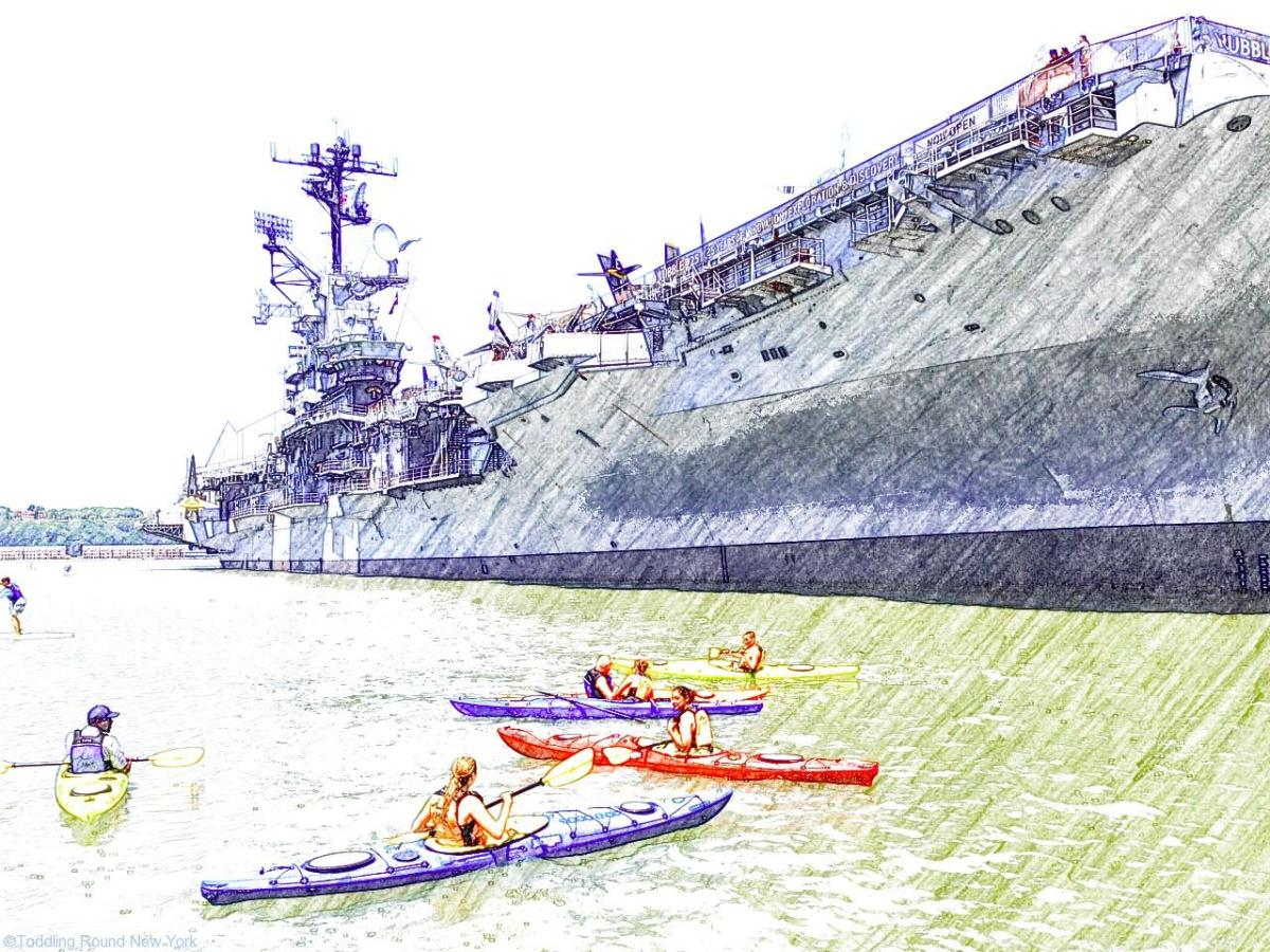 Best NYC museum for dads and kids – Intrepid Sea, Air and Space Museum