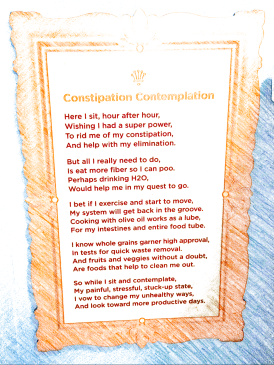 Children's Museum of Manhattan - framed poem on constipation