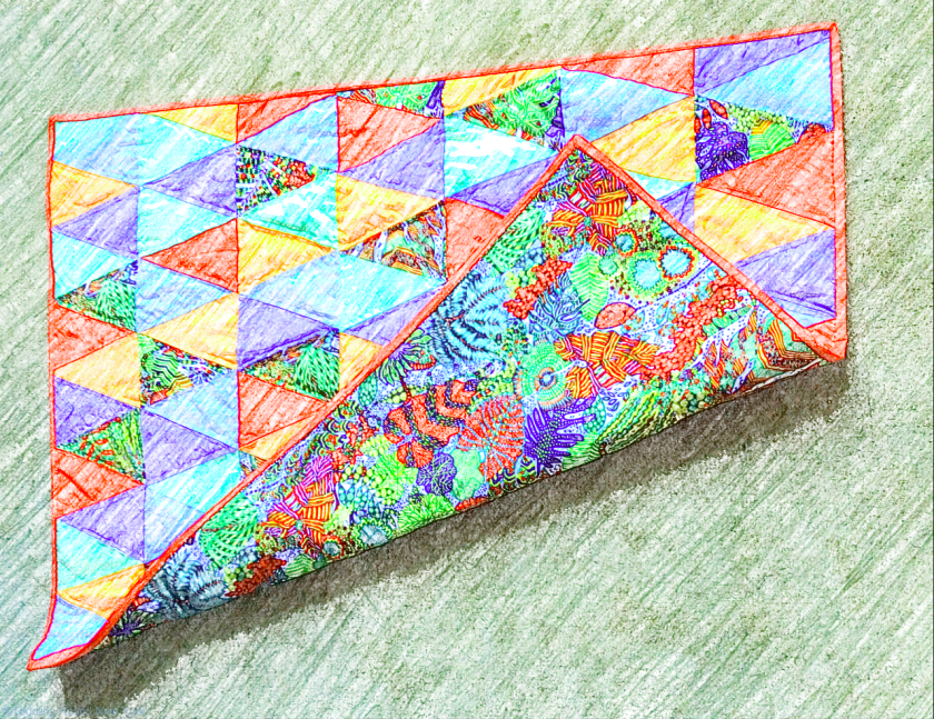 My sixth patchwork quilt