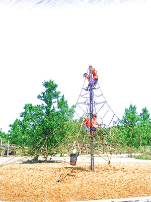 Governors Island climbing frame