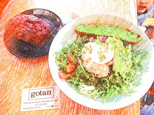 Tuna, avocado and poached egg salad tastiness at Gotan