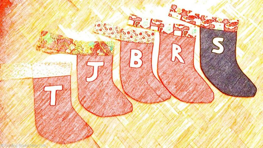 Christmas stockings for the kids and their cousins