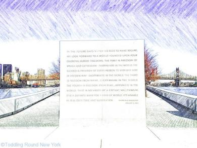 Roosevelt's four freedoms - FDR Four Freedoms Park - Roosevelt Island