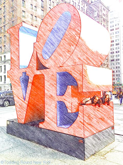Leaving New York - Kay Bermudez photo shoot - Love sculpture - T & B