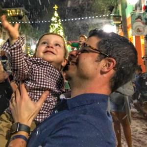 Now Snowing Celebration Florida in Orlando at Christmas Toddling Traveler
