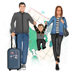 Traveling with a Toddler Toddling Traveler Logo