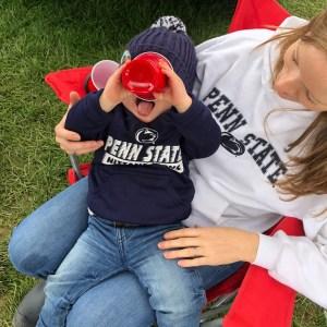 toddler tailgating penn state game