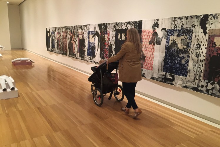 Carnegie museum of art in Pittsburgh with a Toddler Toddling Traveler