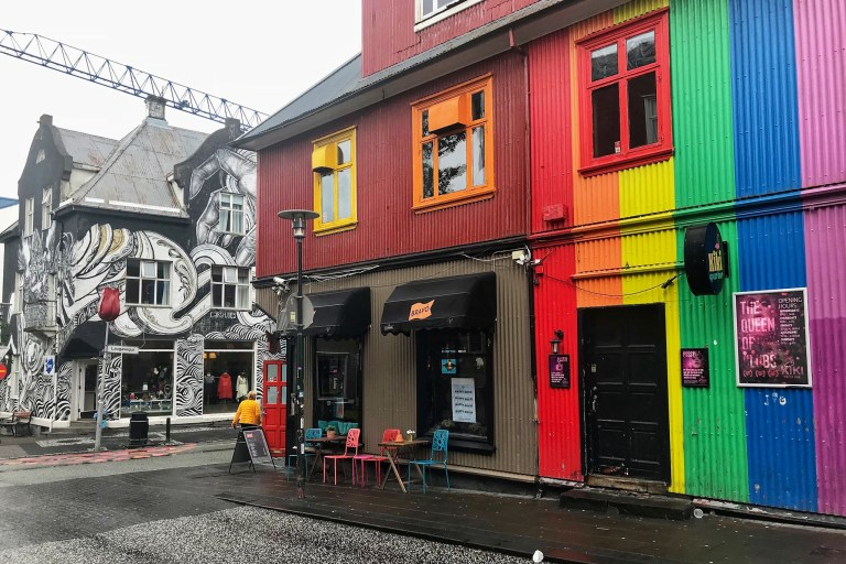 Iceland in July Laugavegur Street Reykjavik