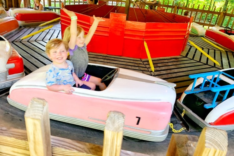 Rides for toddlers at Idlewild with a Toddler Ligonier with Kids