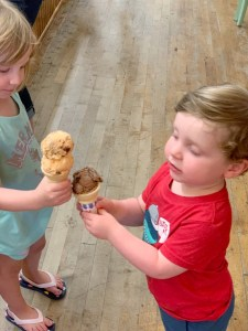 Ligonier Creamery Ice Cream in Ligonier with Kids Toddling Traveler
