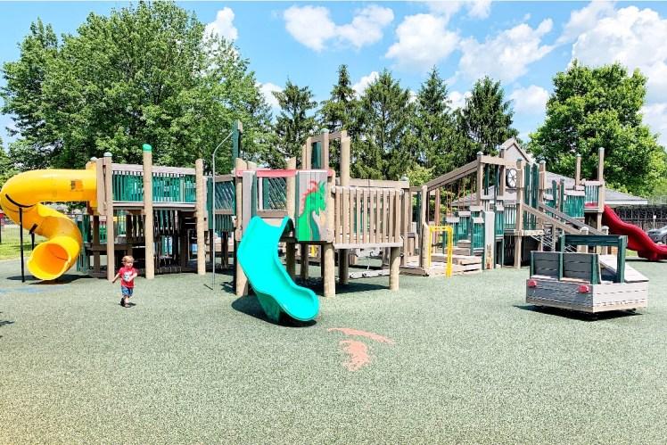 Things to do in Ligonier, PA with Kids Ligonier Playground Toddling Traveler