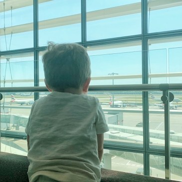 Heathrow Airport Priority Pass Lounge Terminal 5 London Layover with Kids Toddling Traveler