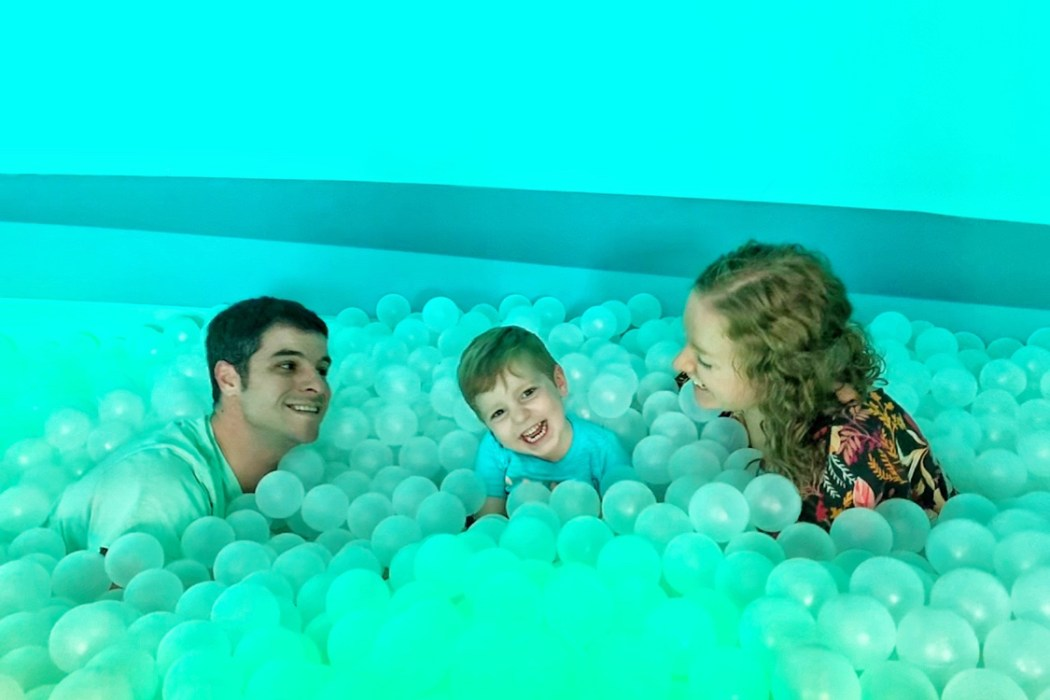Ball Pit at Kids' Club at the Park Royal Golden Family Friendly Resort in Cancun Toddling Traveler
